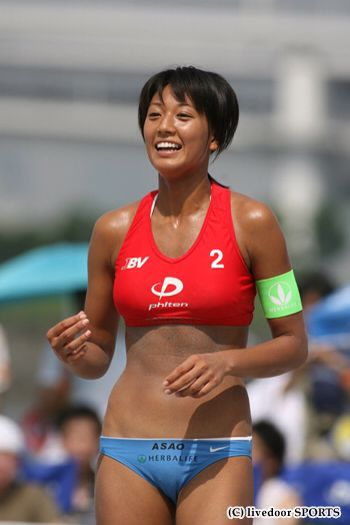 Volleyball-player-Miwa-Asao-001-by-ohfree.net_ Female Japanese beach volleyball player Miwa Asao 浅尾 美和 leaked